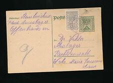 5 Kronen Ganzsachen-Karte 1922 aus Offenhausen + 100 Kronen ZF   (A30)