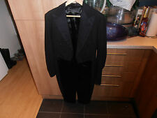 1920s Bespoke White Tie Evening Tailcoat size 36""