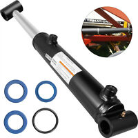 """Hydraulic Cylinder Welded Double Acting 2"""" Bore 8"""" Stroke Cross Tube 2x8 SAE6"""