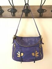 RARE Marc by Marc Jacobs Petal to the Metal Natasha Birds Shoulder Bag Purple