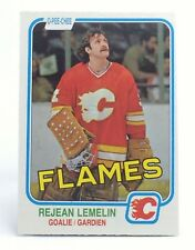 1981-82 Rejean Lemelin #44 Calgary Flames OPC O-Pee-Chee Ice Hockey Card H456