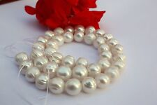 RU3 9,5-10,5 mm echt Zuchtperlen Strang Süßwasser Perlen Schmuck Halskette Kette