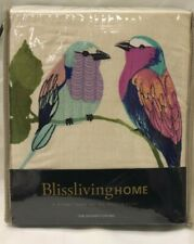 New Embroidered Birds On Branches Fabric Shower Curtain Cotton Lemala by Avanti