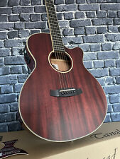 More details for rare electro acoustic guitar tanglewood tw4 winterleaf rrp £449 clear red mahog