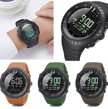 1251 Mens All Black Military Style Army Walking Sports Waterproof Watch