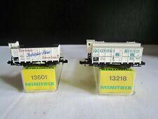 Minitrix Spur N  13601 Patrizier-Bier  13218 HACKERBRÄU Bierwagen  gut   in OVP