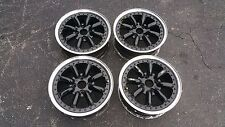"JDM BLACK RACING 15"" X6""+50 OFFSET WHEELS 4X100 PCD 3PC WATANABE CIVIC MIATA CRX"