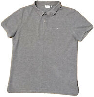 J LINDEBERG polo SS08 shirt JL logo M cotton MEDIUM mainline £120 grey