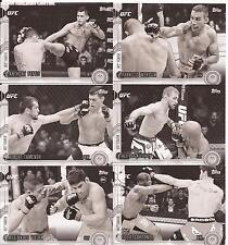 2015 Topps UFC Chronicals Black & White Negative Variation - 11 Card Lot -# /188