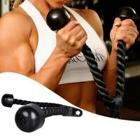 BodyRip Tricep Rope Press Down Push Pull Cord Multi Gym Lat Bar Cable Attachment