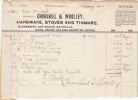 U.S. Churchill & Woolley Oregon 1903 Hardware Detailed Paid Invoice Ref 41769