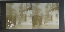 Photo Stereo Amateur Snapshot n10 Vintage Citrate c1900 Emulsion abimée