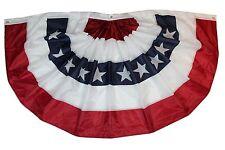 USA Banner genäht, hängend & gefaltet US Flagge, 98 x 183 cm PLEATED Flag, Fahne