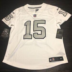 Nike Womens Michael Crabtree NFL Jersey Size Medium 818987-105 White Stitched