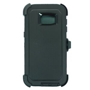 For Samsung S7 Edge Defender Case w/ Screen & Clip fits Otterbox Black