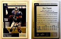 Ron Dayne Signed 2003 Score #217 Card New York Giants Auto Autograph