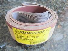 "KLINGSPOR SANDING BELTS, 2-1/2"" X 60  #4, CS 310,180X / 120X lot of (10) New"