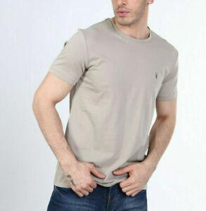 All Saints Mens Sutro Grey Tonic S/S Crew Logo Cotton T-Shirt Tee S M L XL XXL