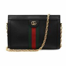 Gucci Ophidia Small Leather Women's Shoulder Bag - Black (503877 DJ2DG 1060)