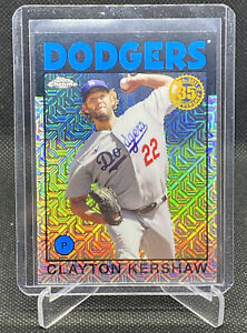 2021 Topps Series 1 Silver Pack 1986 Chrome Clayton Kershaw 86BC-4