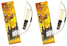 2 x Kids Bow And Arrow Play Set Toy Plastic Archery Cowboys Outdoor Garden Game