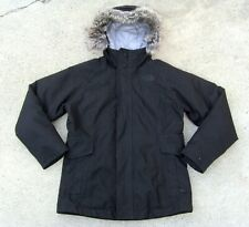 The North Face DryVent 550 Goose Down Hooded Jacket Waterproof Girl's L Black