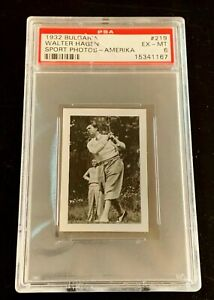 1932 BULGARIA #219 WALTER HAGEN PSA 6 ONLY 77 HAVE GRADED HIGHER (CRACKED CASE)