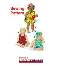 Kwik Sew K3035 Pattern Infants Sundress, Bloomers, Shortalls & Hats S-XL BN