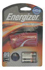 Genuine Energizer RED Pocket Light LED Torch & Batteries 60/h 25m Beam [1-Pack]