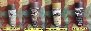 Lot de 4 Bombes spray peinture - Casque Allemand WW2