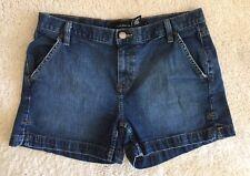 Calvin Klein Dark Vintage Denim Side Slit Short Shorts size 8 EXCELLENT COND!