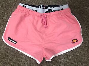 Ellesse Pink Retro Shorts, Size M, Mens, Logo Waistband, Mesh Lined, Ibiza, VGC