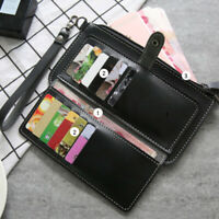 Women Long Card Cash Holder Zipper Clutch Large Capacity Purse Handbag Wallet