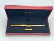 Louis Cartier Fountain Pen Limited Edition Gold/Black Lacquer 18K Med  Box Mint