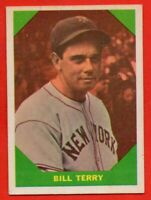 1960 Fleer #52 Bill Terry EX/EX+ WRINKLE HOF New York Giants FREE SHIPPING