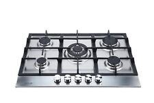 MILLAR SH7051S 5 Burner Built-in Stainless Steel Gas Hob 70cm - Cast Iron Stands