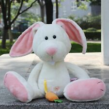 Stuffed Animal soft toys 25 cm white rabbit orange radish plush doll