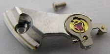 LeCoultre 916 watch movement part: balance wheel bridge & screw
