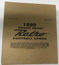 1999 Upper Deck Retro Factory Sealed Football Hobby Box HTF