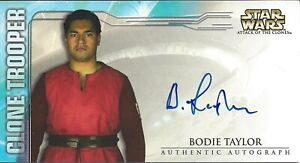 Star Wars Attack of the Clones Widevision AOTC 2002- Bodie Taylor Autograph Card
