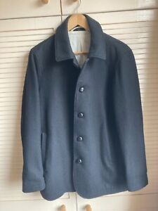Muji black wool coat M