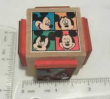 Disney MICKEY MOUSE Stamper Cube Quad 4 Sides Rubber Stamp