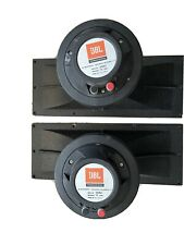 """More details for pair of jbj 2446j 1"""" compression drivers plus matching 2370a horns"""