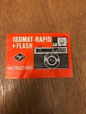 Agfa-Gevaert AG Camera-Werk Isomat-Rapid + Flash Original Instruction Manual.