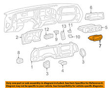 GM OEM Dash Cluster Switch-Compartment 15958735