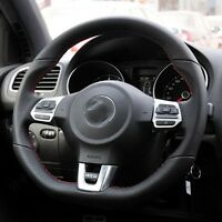 Leather handmade Steering wheel covers For Volkswagen VW Golf 6 GTI MK6 Polo GTI