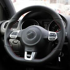 Leather handmade Steering wheel covers For Volkswagen VW Golf 6 GTI MK6 Polo GTI