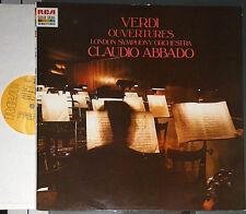 VERDI OUVERTURES CLAUDIO ABBADO LONDON SYMPHONY ORCHESTRA LP