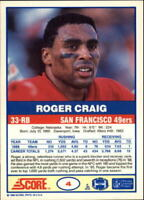 1989 Score Football Base Singles (Pick Your Cards)