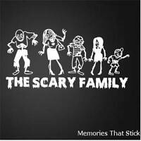 Personalised Zombie Family Funny Car Window JDM VW Novelty Vinyl Decal Sticker 1